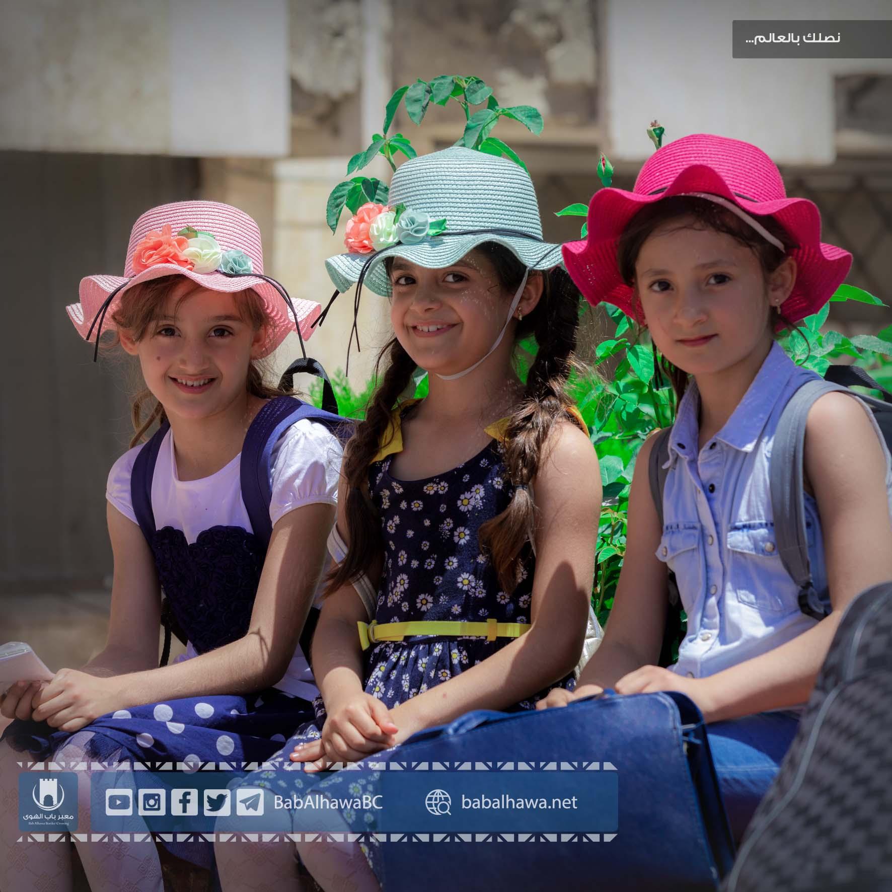 مسافرات في معبر باب الهوى سورية